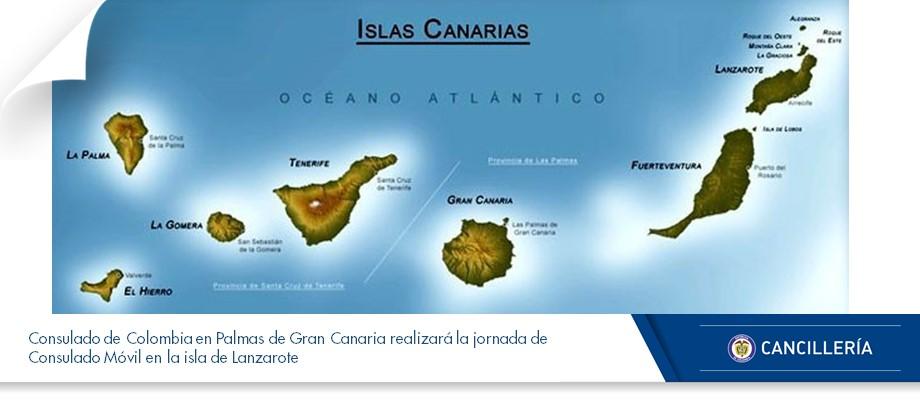Consulado de colombia en islas canarias - Isla de las palmas de gran canaria ...